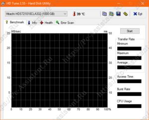 интерфейс HD Tune