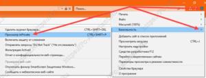 переход в режим инкогнито в Internet Explorer